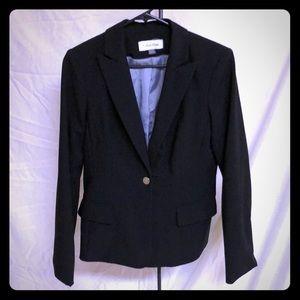 Calvin Klein lined black blazer w pockets